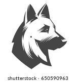 german shepherd head   vector... | Shutterstock .eps vector #650590963