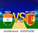 banner or poster for cricket...   Shutterstock .eps vector #650591650