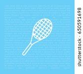 tennis racket icon. vector... | Shutterstock .eps vector #650591698