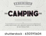 font.alphabet.script.typeface... | Shutterstock .eps vector #650595604