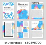 abstract vector layout... | Shutterstock .eps vector #650595700