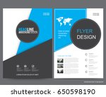 abstract vector modern flyers...   Shutterstock .eps vector #650598190