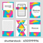 abstract vector layout...   Shutterstock .eps vector #650599996