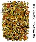 cartoon cute doodles hand drawn ... | Shutterstock .eps vector #650604808