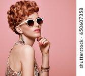 fashion portrait model in sexy... | Shutterstock . vector #650607358