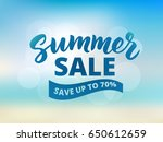 summer sale banner design...   Shutterstock .eps vector #650612659