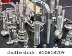 processed metal parts for... | Shutterstock . vector #650618209