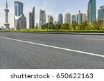 city empty traffic road with...   Shutterstock . vector #650622163
