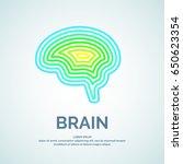 vector logo brain color... | Shutterstock .eps vector #650623354