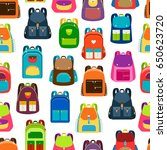 school cartoon pattern with... | Shutterstock .eps vector #650623720