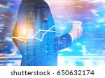 close up of a businessman in a... | Shutterstock . vector #650632174