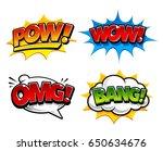 retro comic speech bubbles with ... | Shutterstock .eps vector #650634676
