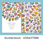 brochure pages of children and... | Shutterstock .eps vector #650637088