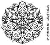 isolated mandala for coloring... | Shutterstock .eps vector #650645608