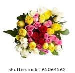 Bouquet Of Multi Colored Roses