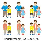 single parent family | Shutterstock .eps vector #650650678