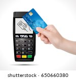 credit card payment  buy and... | Shutterstock .eps vector #650660380