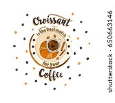 handdrawn coffee lettering... | Shutterstock .eps vector #650663146
