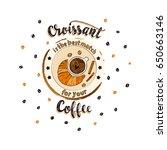 handdrawn coffee lettering... | Shutterstock .eps vector #650663146