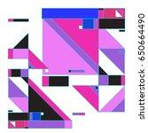 trendy geometric elements... | Shutterstock .eps vector #650664490