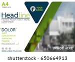 blue and green flyer cover... | Shutterstock .eps vector #650664913