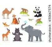 asian animals fauna species.... | Shutterstock . vector #650667574