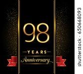 ninety eight years anniversary... | Shutterstock .eps vector #650668093
