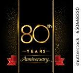 eighty years anniversary... | Shutterstock .eps vector #650668330