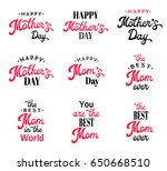 mothers day lettering... | Shutterstock . vector #650668510