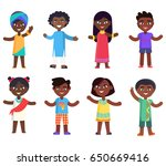 african children boys and girls ... | Shutterstock .eps vector #650669416