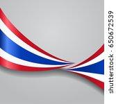 thai flag wavy abstract... | Shutterstock . vector #650672539