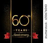 sixty years anniversary... | Shutterstock .eps vector #650676043