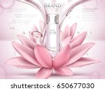 lotus skin toner ad contained... | Shutterstock .eps vector #650677030