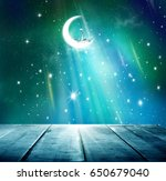 ramadan kareem background.stars ... | Shutterstock . vector #650679040