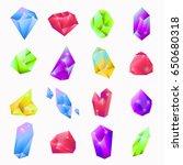 precious stones in various... | Shutterstock .eps vector #650680318
