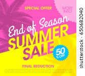 end of season summer sale... | Shutterstock .eps vector #650682040
