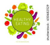 concept of a healthy diet ... | Shutterstock .eps vector #650682529