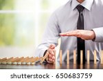 protecting assets from domino... | Shutterstock . vector #650683759