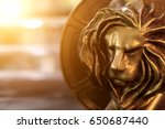 Closeup Of Gold Cannes Lion...