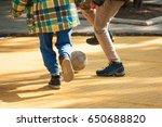 student children play football... | Shutterstock . vector #650688820