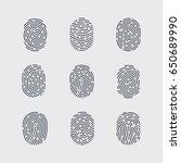 types of fingerprint patterns... | Shutterstock .eps vector #650689990