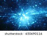 digital abstract technology...   Shutterstock . vector #650690116
