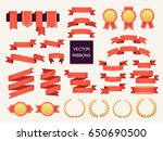 vector collection of decorative ... | Shutterstock .eps vector #650690500