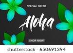 summer background with plumeria ... | Shutterstock .eps vector #650691394