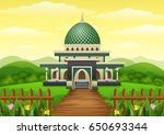 vector illustration of islamic...
