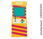 retro arcade machine. flat...