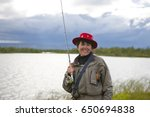 Attractive Smiling Fisherwoman...