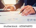 businessman's hands with... | Shutterstock . vector #650696893