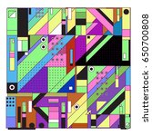 trendy geometric elements... | Shutterstock .eps vector #650700808
