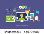 feedback and testimonials.... | Shutterstock .eps vector #650704009